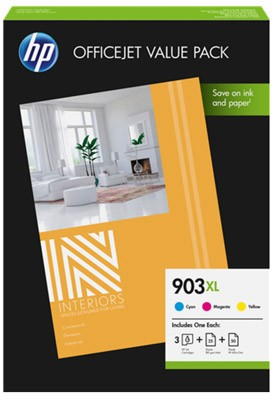 HP 1CC20AE, Nr.903XL eredeti színes tintapatron pakk (CD)