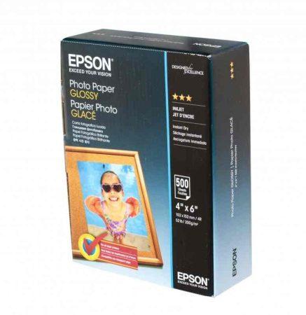 Epson fotópapír tintasugaras nyomtatóhoz, fényes 200g, 10x15 - 500 db / csomag