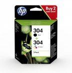 HP Nr.304 eredeti tintapatron multipakk (1db fekete + 1 db színes patron) 3jb05