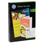 HP Nr.963 (6JR42AE)  eredeti színes tintapatron pakk C/M/Y + A/4 HP papír (CD)