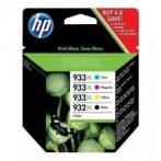 HP C2P42AE, Nr.932XL/933XL eredeti (fekete-cián-magenta-sárga) tintapatron multipakk, ~ 3475 oldal