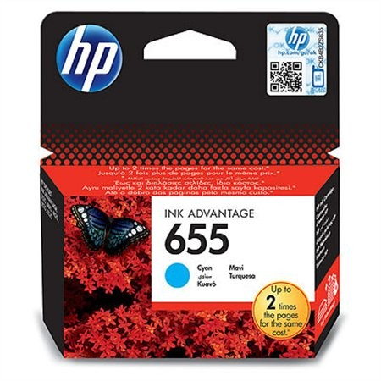 HP CZ110AE, Nr.655 eredeti cián tintapatron, ~600 oldal