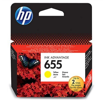 HP CZ112AE, Nr.655 eredeti sárga tintapatron, ~600 oldal