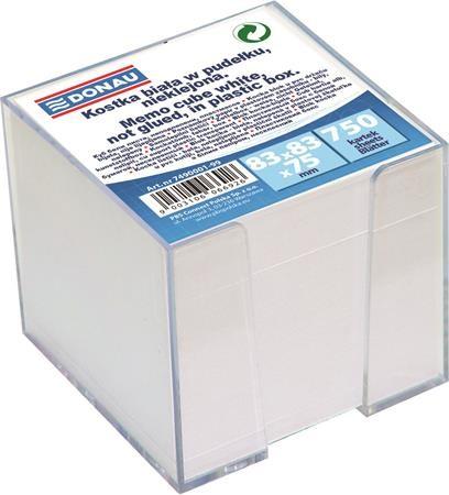 DONAU fehér kockatömb adagolóval 83x83x75mm, 750 lap
