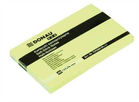 DONAU 127x76 mm öntapadó jegyzettömb pasztell sárga 100lap