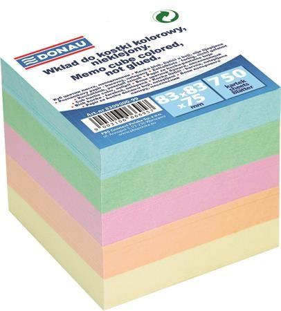 DONAU színes kockatömb 83x83x75 mm, 750 lap
