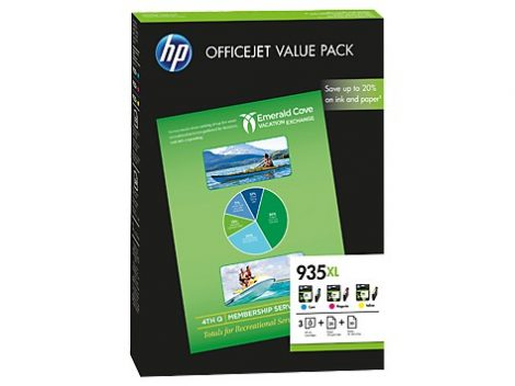 HP F6U78AE eredeti tintapatron multipakk +75ív papír, No.935XL