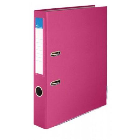 Iratrendezö, 50mm, rózsaszín, élvédö sínnel