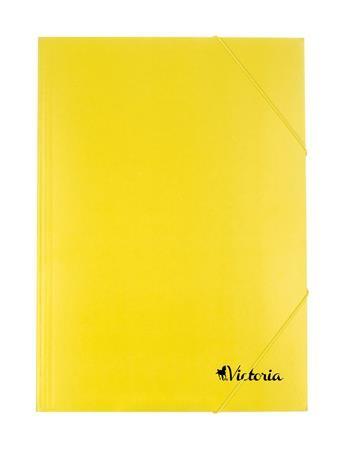 Karton gumis mappa, sárga