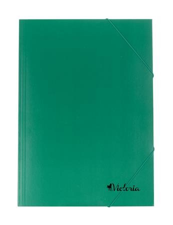 Karton gumis mappa, zöld