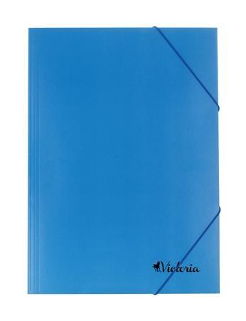 Karton gumis mappa, kék