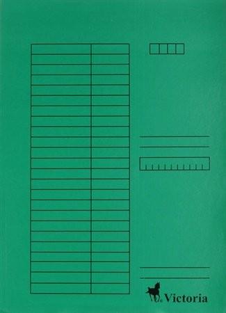 Papír gyorsfüzö, zöld 5db