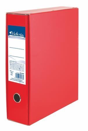 Tokos iratrendezö, 75mm, piros