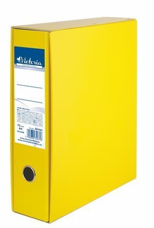 Tokos iratrendezö, 75mm, sárga