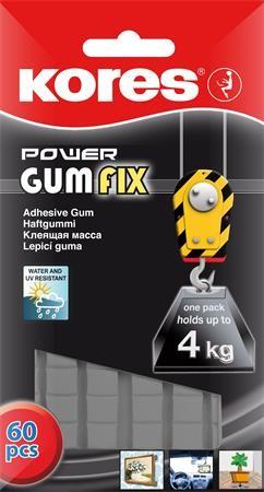 """Gyurmaragasztó, 60 kocka/csomag, extra erős, KORES """"Power Gumfix"""""""