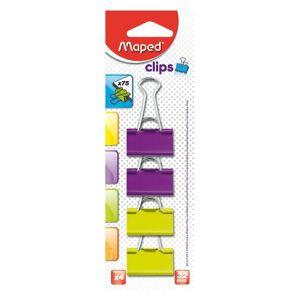 MAPED bindercsipesz, 32mm, 4db/bliszter, vegyes színek