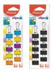 MAPED bindercsipesz, 19mm, 10db/bliszter, vegyes színek