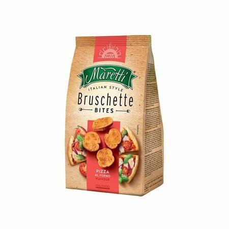 """Pirított kenyérkarika, 70 g, MARETTI """"Bruschette"""", pizza ízesítéssel"""