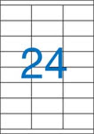3 pályás etikett, 70x35 mm, 2400 etikett/csomag