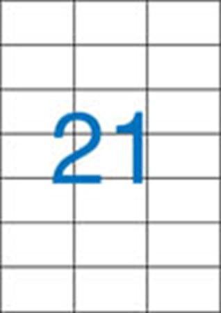 3 pályás etikett, 70x42,4 mm, 2100 etikett/csomag VICTORIA