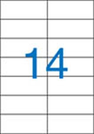 2 pályás etikett, 105 x 42,4 mm, 1400 etikett/csomag VICTORIA
