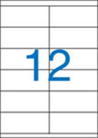 2 pályás etikett, 105x48 mm, 1200 etikett/csomag VICTORIA