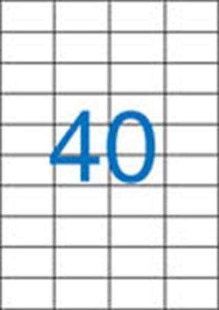 4 pályás etikett, 52,5x29,7 mm, 4000 etikett/csomag VICTORIA