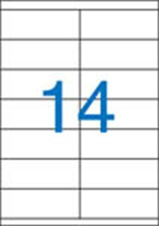 2 pályás etikett, 105x40 mm, 1400 etikett/csomag VICTORIA