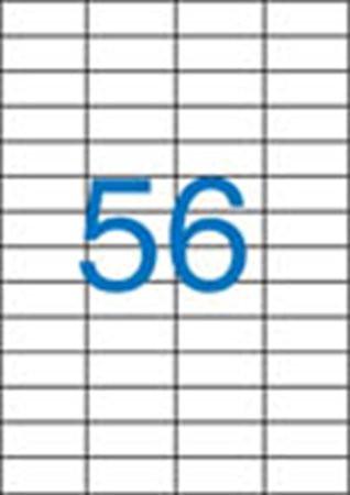 4 pályás etikett, 52,5x21,2 mm, 5600 etikett/csomag VICTORIA
