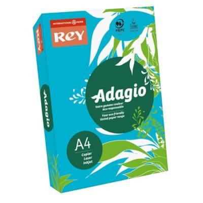 """Intenzív kék, A4, 80 g, Adagio """"REY""""  színes másoló-, nyomtatópapír (500lap, intenzív szín)"""