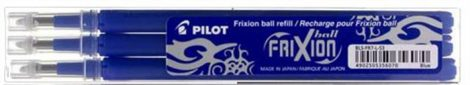 "Rollertoll betét, 0,35 mm, törölhető, PILOT ""Frixion Ball/Clicker"", kék (3db/cs.)"