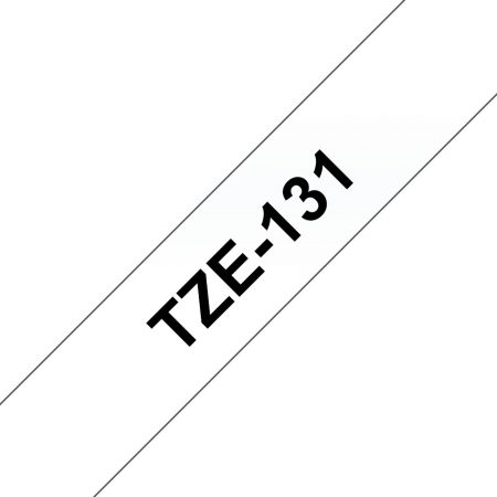 Feliratozógép szalag, 12 mm x 8 m, BROTHER, átlátszó-fekete (TZE-131)