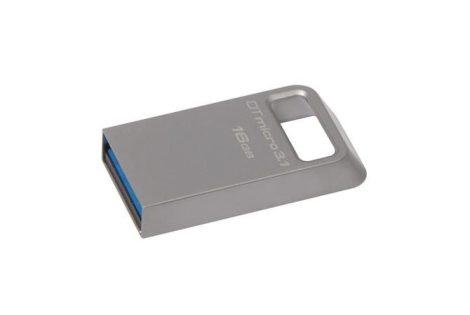 """Pendrive, 16GB, USB 3.1 KINGSTON """"Data Traveler Micro"""", ezüst 100/15MB/sec"""