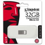 "Pendrive, 32GB, USB 3.1 KINGSTON ""Data Traveler Micro"", ezüst 100/15MB/sec"