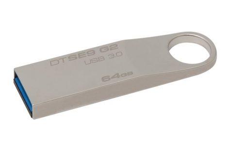 """Pendrive, 64GB, USB 3.0, fém ház, KINGSTON """"DataTraveler SE9 G2"""" ►100/15MB/sec"""