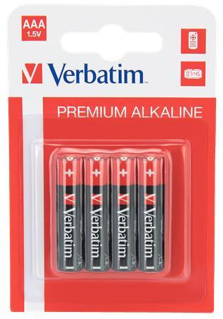 Verbatim AAA tartós alkáli elem (mikro elem) LR03 4db