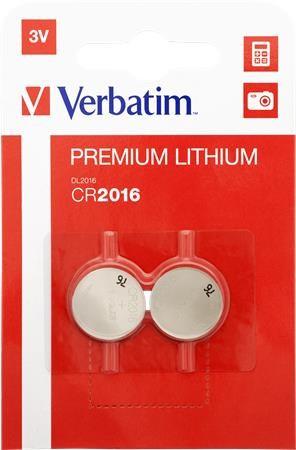 """Gombelem, CR2016, 2 db, VERBATIM """"Premium"""
