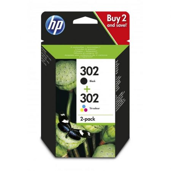 HP Nr.302 fekete + színes eredeti tintapatron multipakk (X4D37AE)