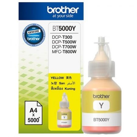 Brother BT5000y yellow tinta DCP-T300/T500W/T700W/MFC-T800W nyomtatókhoz
