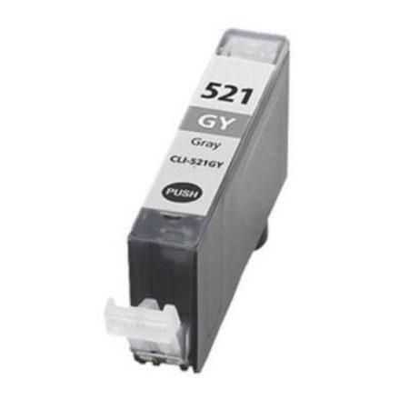 Canon nyomtatóhoz utángyártott CLI-521 GY szürke chipes tintapatron (cli521)