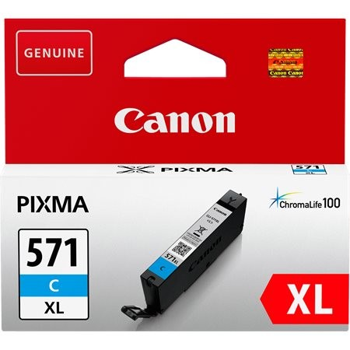 Canon CLI-571C XL eredeti cián tintapatron, ~715 oldal (cli571xl)