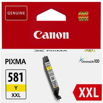 Canon CLI-581Y XXL eredeti sárga tintapatron, ~825 oldal