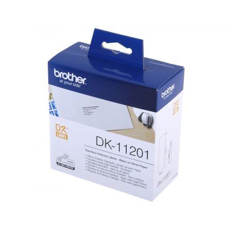 Címkenyomtató etikett szalag (DK Label), 29 mm x 90 mm, öntapadó, Brother (DK-11201)