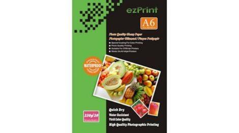 Fotópapír, ezPrint A6 (~105*148mm), fényes, 230g, 100ív/csomag (tintasugaras)