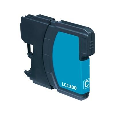 Brother LC980 / LC1100 C utángyártott  tintapatron kb.≈: 400 oldalas