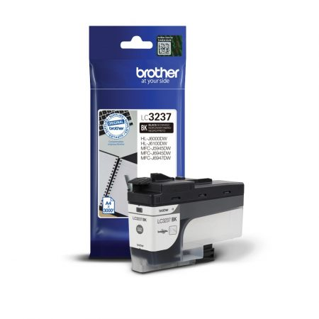 Brother LC3237 Bk (fekete) eredeti normál kapacitású tintapatron (~3000 oldal)