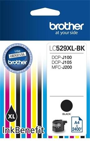 Brother LC529XL Bk fekete eredeti tintapatron