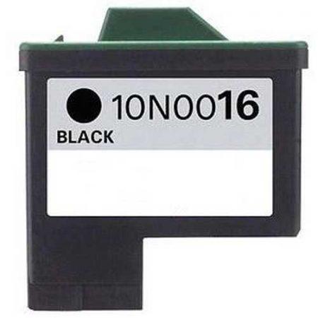 Lexmark Nr.16 (10N0016E) utángyártott fekete tintapatron, ~410 oldal (lex16)