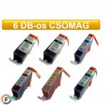 Canon nyomtatóhoz PGI520 - CLI521 chipes utángyártott tintapatron csomag, 6 darabos (pgi-520, cli-521)