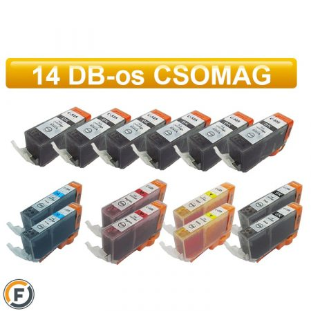 Canon nyomtatóhoz PGI525 - CLI526 chipes utángyártott tintapatron csomag, 14 darabos